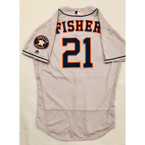 Photo of 2019 Mexico Series - Game-Used Jersey - Derek Fisher, Houston Astros at Los Angeles Angels - 5/4/19