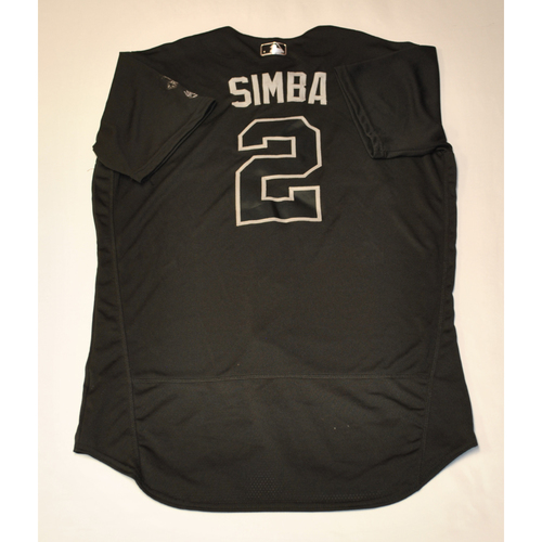 "Photo of Andrelton ""SIMBA"" Simmons Los Angeles Angels Game-Used 2019 Players' Weekend Jersey"