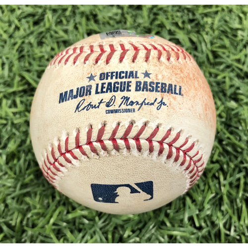 Game Used Baseball: Franmil Reyes single off Oliver Drake - August 30, 2019 v CLE