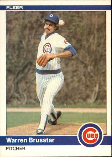Photo of 1984 Fleer #487 Warren Brusstar