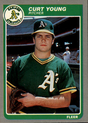Photo of 1985 Fleer #436 Curt Young