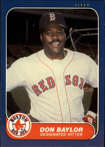 Photo of 1986 Fleer Update #10 Don Baylor