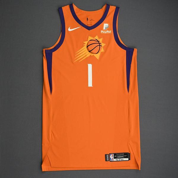 Image of Devin Booker - Phoenix Suns - Game-Worn Statement Edition Jersey - 2019-20 Season