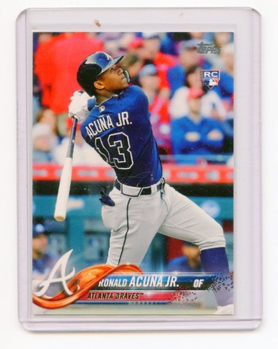 Photo of 2018 Topps Base Set Photo Variations #698A Ronald Acuna Jr./Bat head down S2