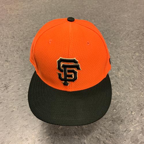 Photo of 2019 Team Issued Orange Batting Practice Cap - #5 Mike Yastrzemski - Size 7