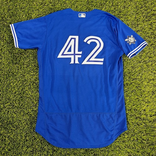 Photo of CHARITY AUCTION: Authenticated Game Used #42 Jersey: Derek Fisher (Aug 28, 20). Size 46.