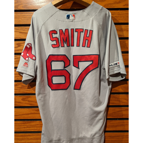Photo of Josh Smith #67 Game Used Road Gray Jersey