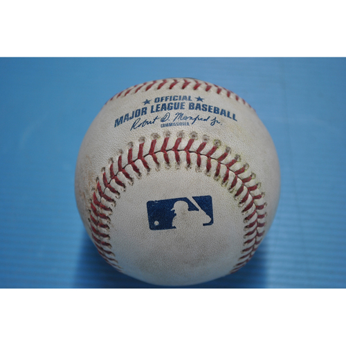 Photo of Game-Used Baseball - 2020 ALDS - Tampa Bay Rays vs. New York Yankees - Game 4 - Pitcher - Ryan Yarbrough, Batter - Giancarlo Stanton (Grounds into 6-4-3 Double Play) - Bottom 3