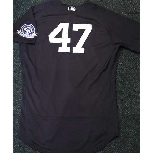 Photo of Team-Issued Spring Training Jersey - Jordan Montgomery - #47 - Jersey Size - 48