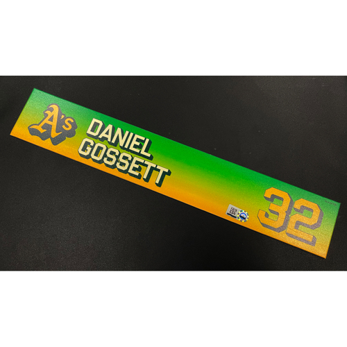 Photo of Team Issued 2020 Locker Nameplate - Daniel Gossett