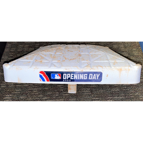 Photo of 2020 Detroit Tigers Comerica Park Opening Day Game-Used Base with Opening Day and In Loving Memory of Al Kaline Base Jewels (MLB AUTHENTICATED)