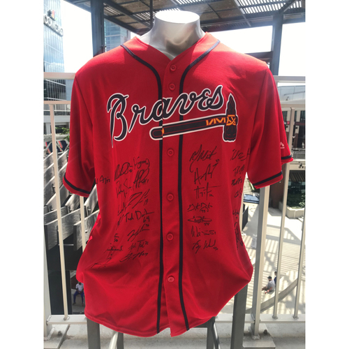 Photo of 2021 Atlanta Braves Team Signed Red Home Jersey