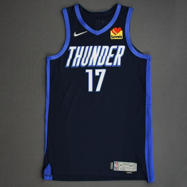 Image of Aleksej Pokusevski - Oklahoma City Thunder - Game-Worn Earned Edition Jersey - 2020-21 NBA Season