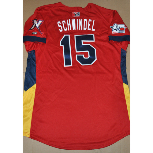 Photo of 2016 Texas League All-Star Game-Used Jersey - Frank Schwindel - 6/28/2016
