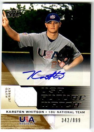 Photo of 2009 Upper Deck Signature Stars USA National Team Future Watch Jersey Autographs #41 Karsten Whitson
