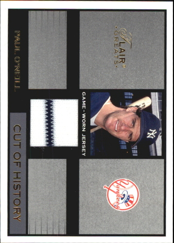 Photo of 2003 Flair Greats Cut of History Game Used #19 Paul O'Neill Jsy