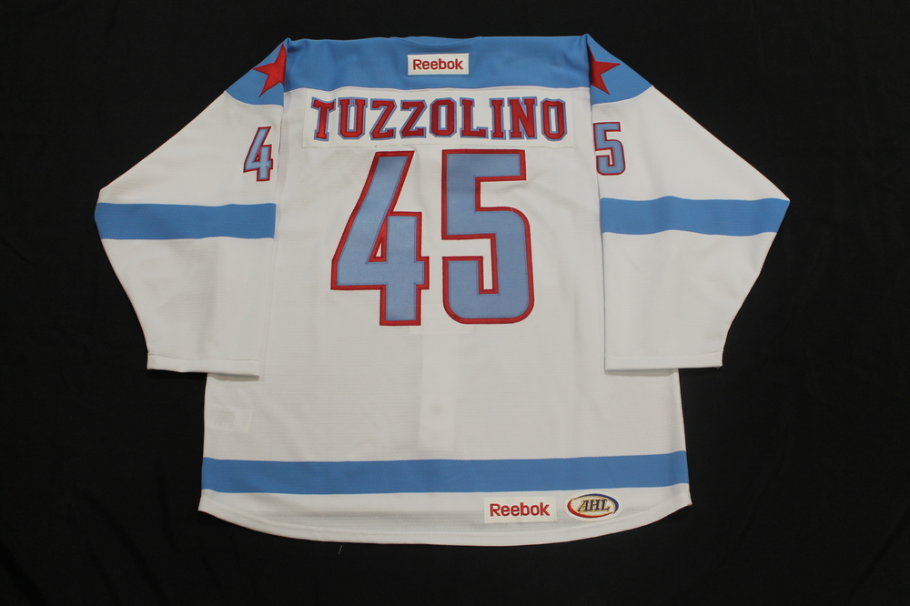 Nick Tuzzolino Game Issued Rochester Americans Men's Health Night Jersey