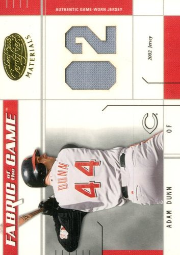 Photo of 2003 Leaf Certified Materials Fabric of the Game #136JY Adam Dunn JY/102
