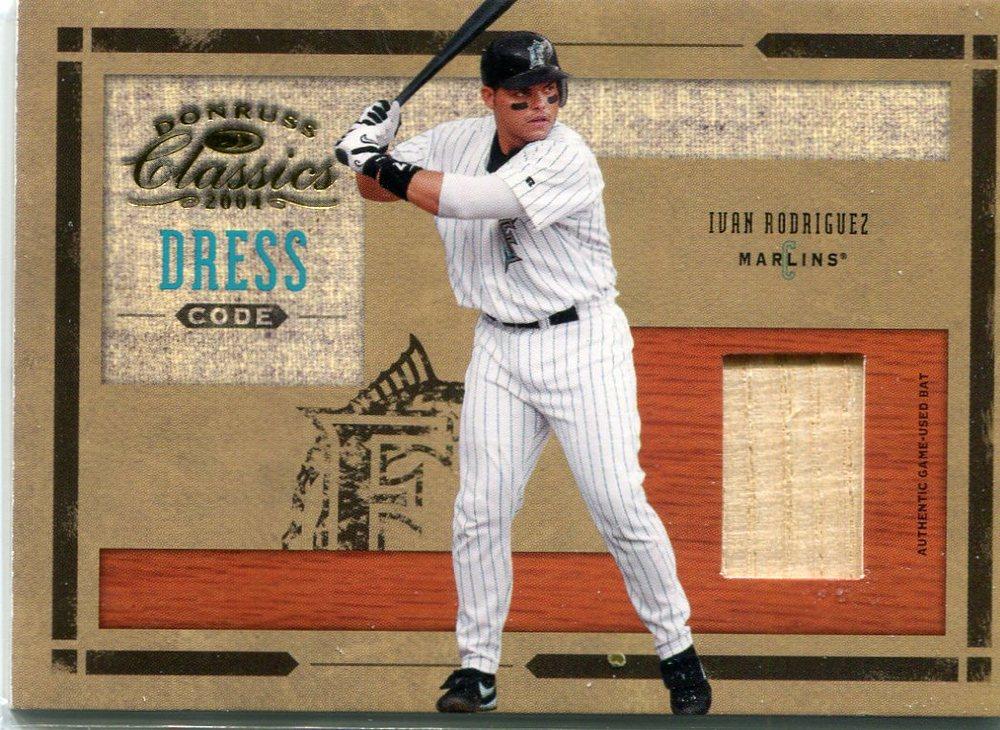 2004 Donruss Classics Dress Code Bat 05/50 Ivan Rodriguez