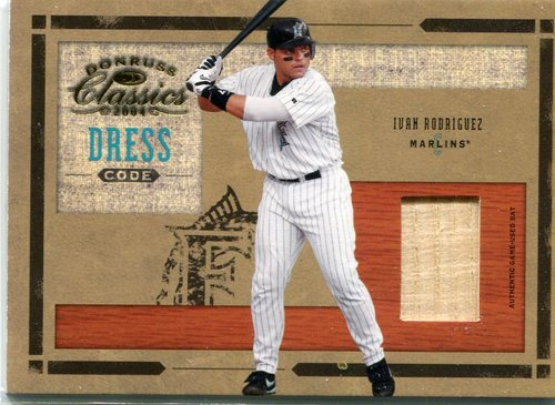 Photo of 2004 Donruss Classics Dress Code Bat 05/50 Ivan Rodriguez