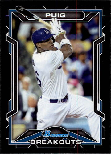 Photo of 2013 Bowman Draft Scout Breakouts #YP Yasiel Puig