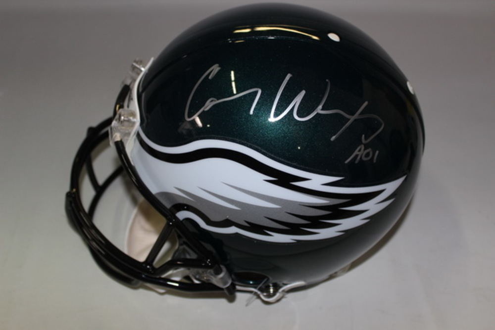 NFL - EAGLES CARSON WENTZ SIGNED EAGLES PROLINE HELMET