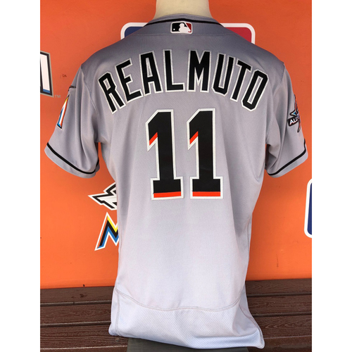 Photo of Game-Used Jersey: J.T. Realmuto -  5/3/17 vs. Tampa Bay Rays (1 Triple, 1 Single, 4 RBI's) Size: 46