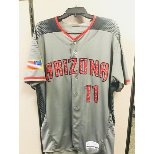 Photo of A.J. Pollock Road 4th of July Game-Used Jersey