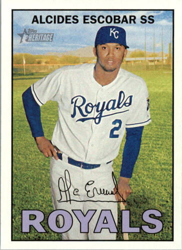 Photo of 2016 Topps Heritage #7 Alcides Escobar