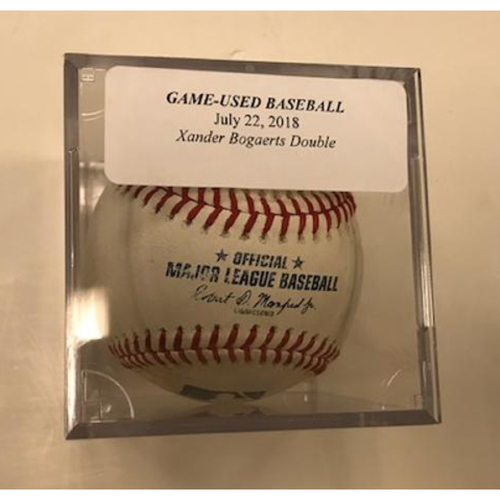Photo of Game-Used Baseball: Xander Bogaerts Double