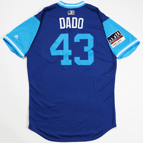 """Photo of Jesse """"Dado"""" Chavez Chicago Cubs Game-Used 2018 Players' Weekend Jersey"""