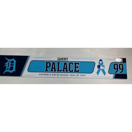Photo of 2017 Game-Used Father's Day Locker Name Plate: Sammy Palace