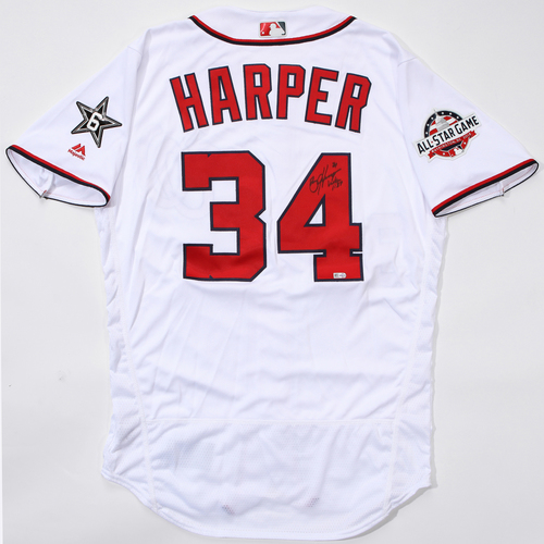 Photo of Compton Youth Academy Auction: Bryce Harper Autographed Jersey (With ASG Patch)
