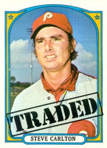 Photo of 1972 Topps #751 Steve Carlton TRADED