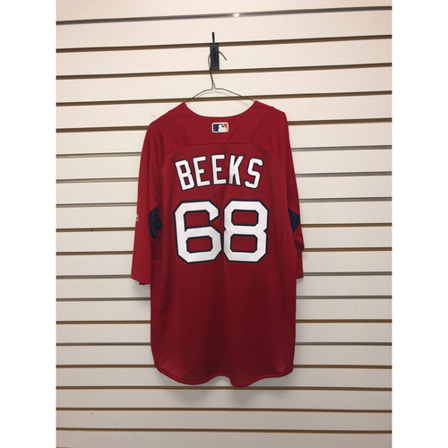 Photo of Jalen Beeks Team-Issued Home Batting Practice Jersey