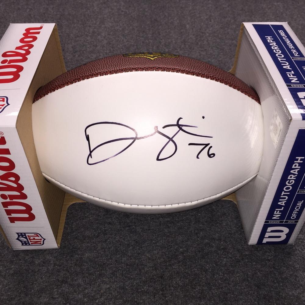 NFL - Cardinals Deuce Lutui signed panel ball