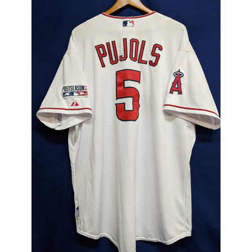 Photo of Albert Pujols Game-Used 2014 Post Season Home Jersey - ALDS Game 1