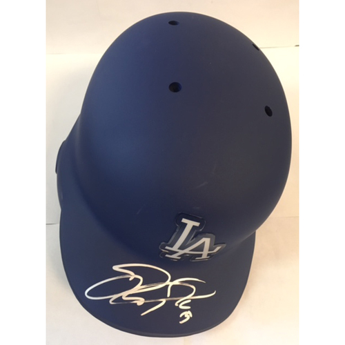 Photo of Joc Pederson Autographed Dodgers Batting Helmet
