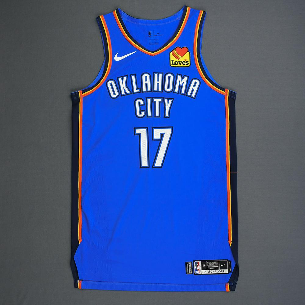 Dennis Schroder - Oklahoma City Thunder - Game-Worn Icon Edition Jersey - 2019 Playoffs