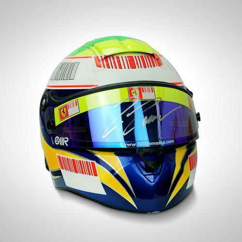 Photo of Felipe Massa 2008 Signed Race Used Helmet