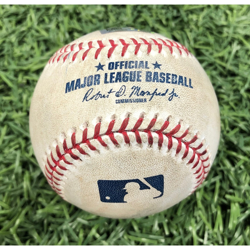 Game Used Baseball: Nate Lowe strikeout, Matt Duffy double & Joey Wendle reaches on error off Travis Lakins - September 21, 2019 v BOS