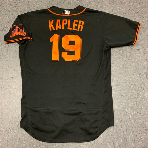 2020 Game Used Spring Training Jersey worn by #19 Gabe Kapler on 2/22 vs Los Angeles Dodgers - First Game as San Francisco Giants Manager - Size 46