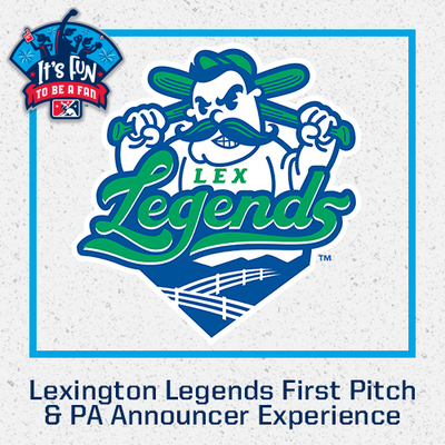 Lexington Legends First Pitch & PA Announcer Experience