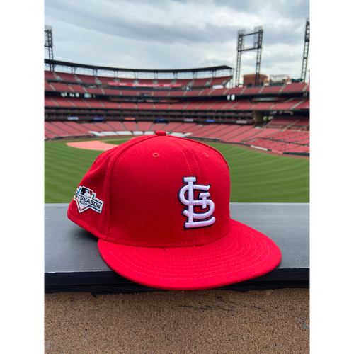 Photo of Cardinals Authentics: Team Issued Blank Postseason Red STL Cap - Choose your size!