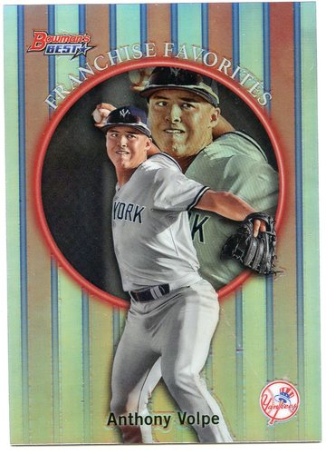 Photo of 2019 Bowman's Best '99 Franchise Favorites Refractors #99FFAVO Anthony Volpe