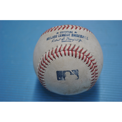 Photo of Game-Used Baseball - 2020 ALDS - New York Yankees vs. Tampa Bay Rays - Game 5 - Pitcher - Gerrit Cole, Batters - Brandon Lowe (Walk), Randy Arozarena (Hit by Pitch) - Bottom 1