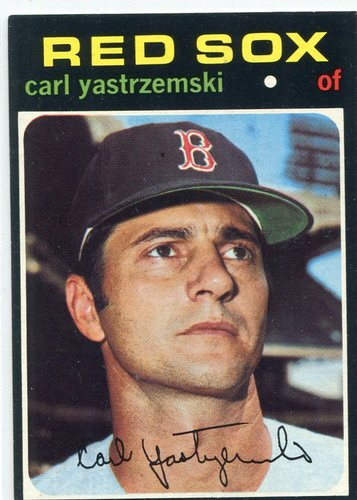 Photo of 1971 Topps #530 Carl Yastrzemski -- Hall of Famer