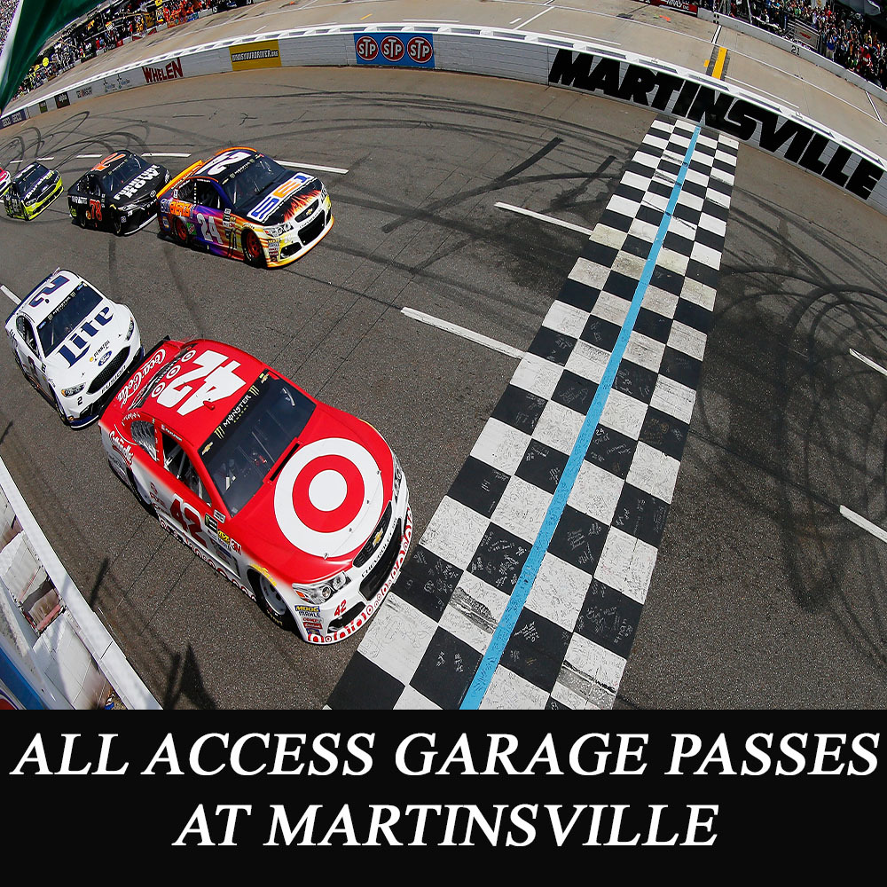 All Access NASCAR Garage Passes at Martinsville - benefitting the Paralyzed Veterans of America!