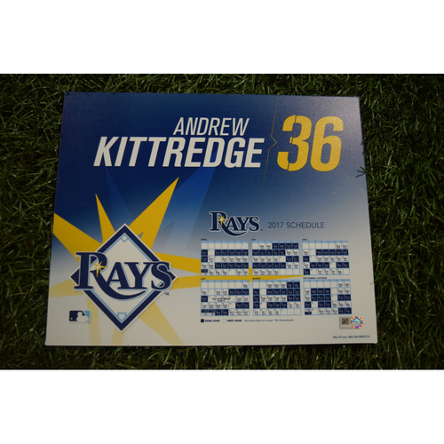 2017 Team-Issued Locker Tag - Andrew Kittredge