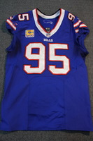 CRUCIAL CATCH - BILLS KYLE WILLIAMS GAME WORN BILLS JERSEY W/ CAPTAINS PATCH (OCTOBER 22, 2017) SIZE 46
